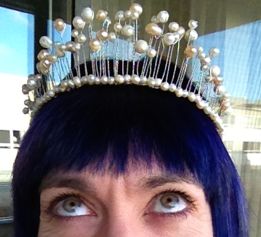 Lynne and her tiara